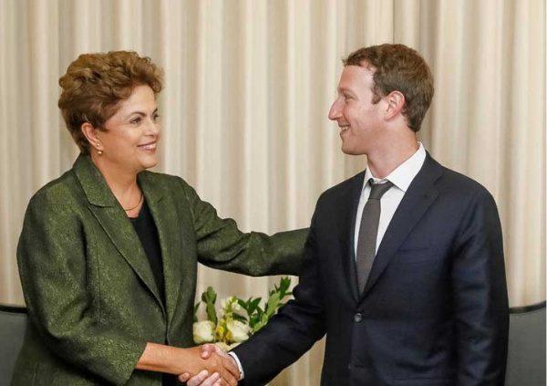 Dilma e Zuckerberg discutiram infraestrutura