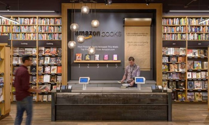 A Amazon abre sua primeira livraria