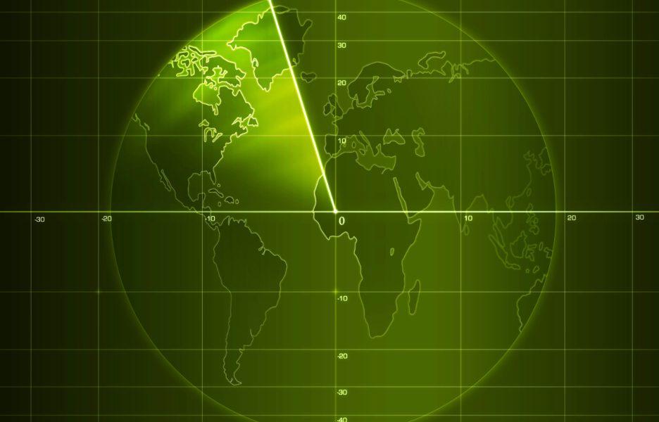 Artwork - Radar screen with details. 2D Graphics. Computer Design.